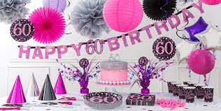 60th birthday decorations pink sparkling celebration 60th birthday party supplies party city