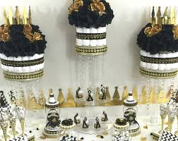 a new prince baby shower black gold baby shower centerpiece for prince baby shower