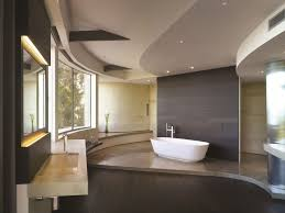 white bathtub recessed lights in grey ceiling design mirror and