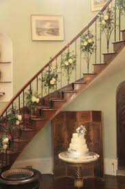 Stairs Decorations by Flower Floral Decor Decoration Garland Staircase Idea Wedding