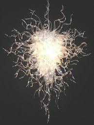 Diy Glass Chandelier Hangingtransparent Blown Glass Chandelier Lightings Led Bulbs