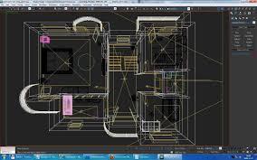 home interior floor plan 02 3d model cgtrader