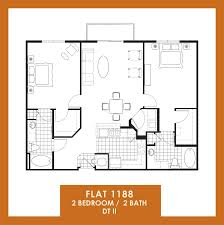Floor Plan Flat by Floor Plans Of The Flats At Avalon Park Dtii In Orlando Fl