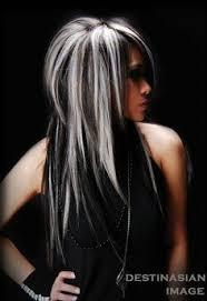 platinum blonde and dark brown highlights platinum blonde with black lowlights black hair and platinum