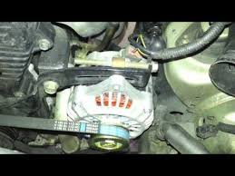 1998 kia sportage replace alternator belt youtube