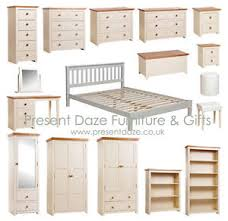 jamestown cream shabby chic bedroom furniture with waxed oak tops