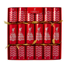 christmas crackers lfc 6 pack christmas crackers liverpool fc official store