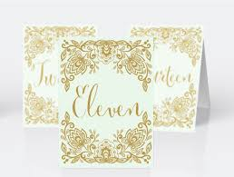 White And Gold Wedding Invitation Cards Wedding Table Numbers Set Diy Printable Pdf Lace Mint And Gold