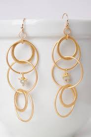 ch earrings harmoney unique handmade chalcedony hoop earrings for women