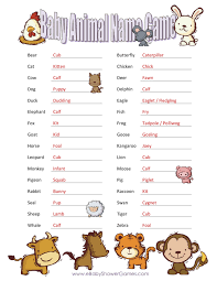 11 best images of baby shower printable baby animal name game and