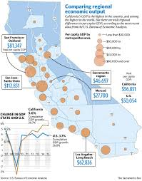 california u0027s gdp varies across the state the sacramento bee