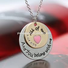 Custom Necklace Pendants Custom Engraved Alloy Pendant Necklace Gift Be Brave Live Life
