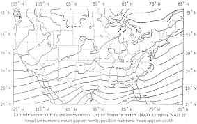 United States Longitude Latitude Map by Geodetic Data Primer