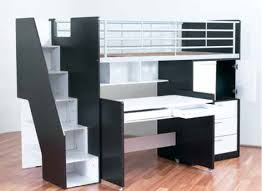 storage loft bed with desk bunk beds bambino home