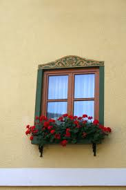free images house flower home wall balcony red color