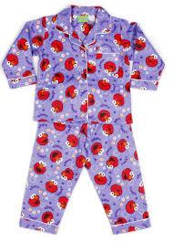 purple elmo flannelette pjs size2 children s flannelette pyjamas