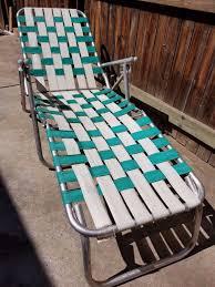 Lightweight Aluminum Webbed Folding Lawn Chairs Vintage Aluminum Frame Arms Webbed Folding Lawn Chaise Lounge