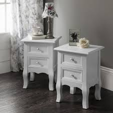 White Bedside Table White Bedside Tables Cabinets Units Nightstand Table With 2