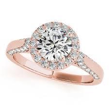 diamond rings round images Halo engagement rings white yellow rose gold or platinum jpg