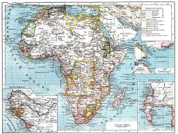 Africa Map 1914 by Africa In World War 1 Europe