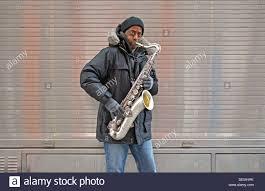 portrait of a street musician in greenwich village new york city