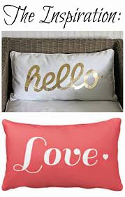 pinspired home simple stenciled pillow