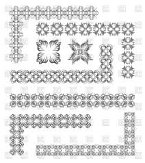 ornamental borders with floral patterns vector clipart