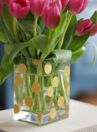 Creative Vases Ideas Diy Gold Dot Vase Hi Sugarplum