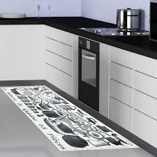 tapis de cuisine gris design cuisine naturelle