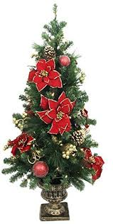 4ft christmas tree home accents 4 ft poinsettia potted