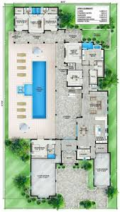 home plans with pool house plans mediterranean style greatroom courtyard