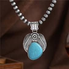 real stone necklace images 2018 bohomian silver necklace jewelry round brushed beads real jpg