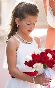 girl pearl necklace images Flower girl jewelry set bridal pearls junior bridesmaid jewelry jpg