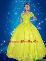 cinderella quinceanera yellow green gown cinderella high fashion quinceanera dresses
