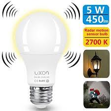 self contained motion detector light amazon com motion sensor light bulb dusk to dawn 5w radar motion