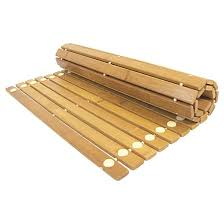 spa sensations bamboo wood step out bath mat ginsey vcny