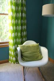 Green Curtains For Nursery Modern Mantle Completed Nursery