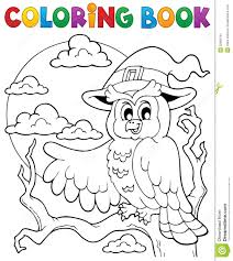 halloween photo book coloring book halloween owl 1 stock photography image 32985162