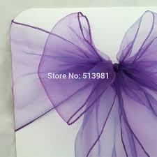 purple chair sashes cadbury purple chair sashes wedding organza chair cover sashes