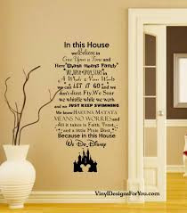 vinyl wall art etsy this house disney wall decal with mickey mouse castle quotes
