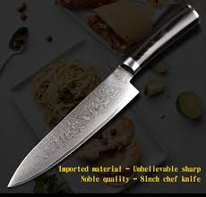 high quality chef knife vg10 japanese damascus carbon steel