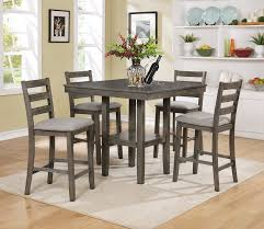 counter height dining room table crown mark tahoe 5 piece counter height dining set reviews wayfair