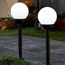 Solar Path Light 2pack 4led Super Bright Solar Globe Stake Light Set Sogrand Solar