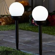 2pack 4led bright solar globe stake light set sogrand solar Bright Solar Landscape Lights