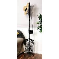 69 in vintage nautical style standing iron coat rack 56042 the