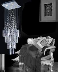 Crystal Drops For Chandeliers Crystal Drops For Chandeliers Stairwell Chandelier Chrome Finish