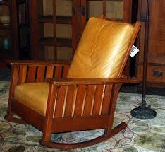 Mission Oak Rocking Chair Voorhees Craftsman Mission Oak Furniture Original L J G Stickley