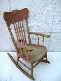 Unfinished Child S Rocking Chair Antique Rocking Chairs Foter