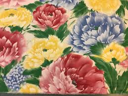 floral home decor fabric bright floral upholstery fabric vintage