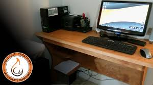 Personal Computer Desk Simple Plywood Computer Desk 8 Steps With Pictures